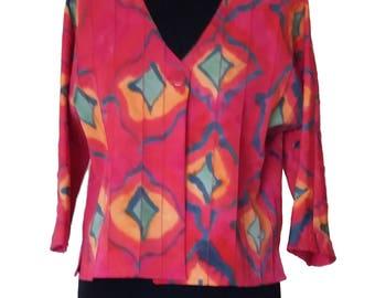 Ikat inspired jacket