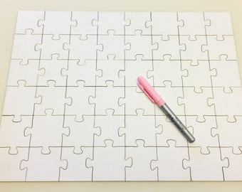 Blank (White) Laser-Cut Jigsaw Puzzle to add your own drawing or painting for a unique artwork