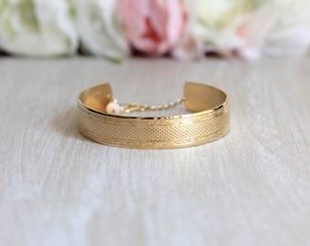 Gold filled Maha Cuff Bracelet
