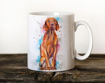 Vizsla Mug Watercolor Ceramic Mug Unique Gift Coffee Mug Animal Tea Cup Art Illustration Cool Kitchen Art Printed mug dog