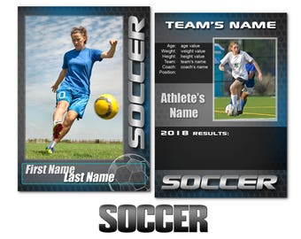 "Soccer ""Graphite"" Cards Templates"