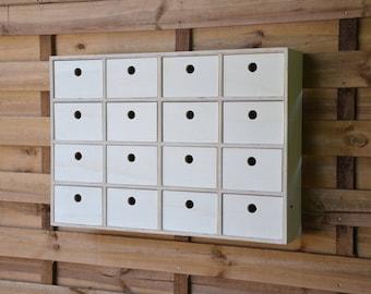 furniture wall storage plywood Birch 16 drawers sewing workshop organizer or jewelry designer