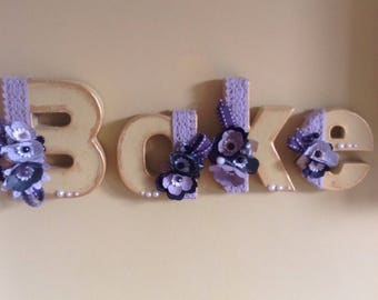decorative letters to personalise your space, price per letter.