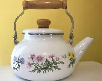 Vintage Enamel Teapot