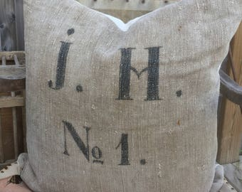 German Grain Sack Pillows