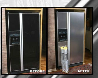 Update Dishwasher with FAUX Stainless Steel PVC film Cover