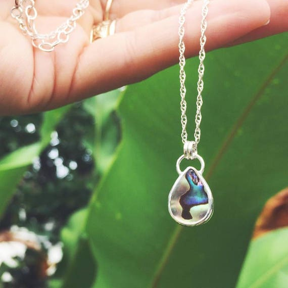 sirena necklace - double sided abalone