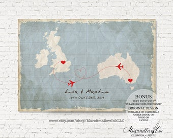 World Map Guest Book Wedding Guest Book Alternative Destination Wedding Map, Wedding Gift Custom Guest Book Map Travel theme Wedding Signs