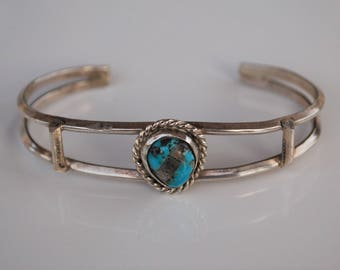 Navajo, Native American Old Pawn Turquoise Sterling bracelet