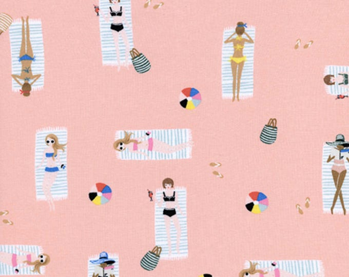 PRESALE: Sun Girls - Coral in Cotton Rayon Lawn by Rifle Paper Co. for Cotton + Steel