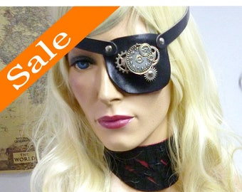 Steampunk Time Travel Leather Eyepatch