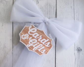 Wood Cards and Gifts Sign - Multiple Colors - Wedding Sign-Wood Sign - Gift Table Sign - Cards Sign - Bridal Shower Sign - Rustic Wedding
