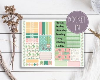 Lookin Sharp Cactus Succulent Travelers Notebook Planner Stickers Pocket Size