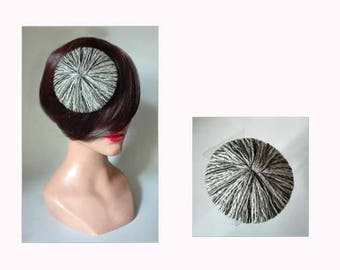 fascinator wool pillbox, hat, fascinator wool kopfschmuck
