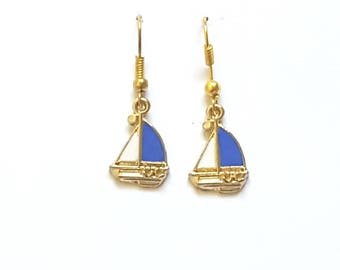 Sail Boat Earrings Nautical Earrings
