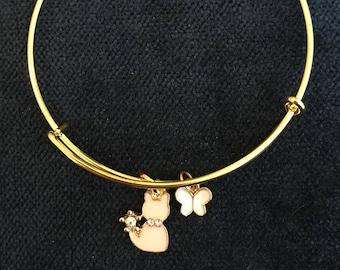 Cat Bangle Cat Bracelet