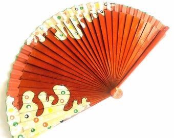 Hand Fans, hand fan, Abanico, fan in natural, handpainted
