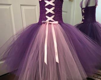 Girls tulle rapunzel dress