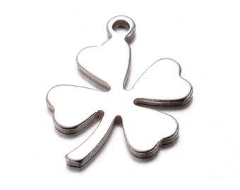 304 Stainless Steel Small Four Leaf Clover Charms