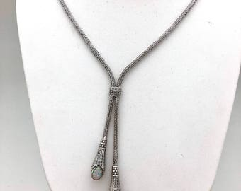 Reversible Opal Bali Y Necklace