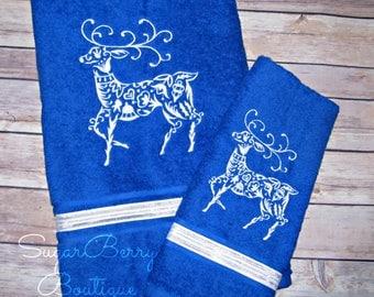 Holiday towel set | Etsy