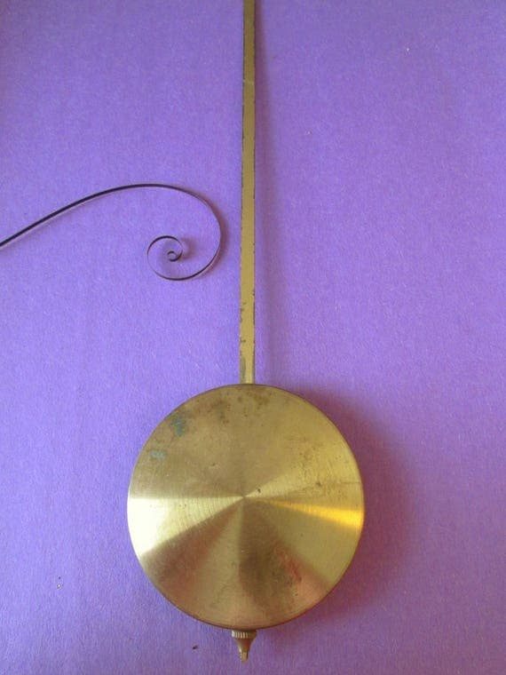 """1  11"""" Clock Pendulum with a 2 3/4"""" Bob for your Clock Projects"""