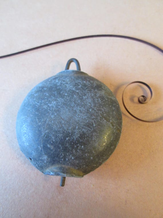 """1 Vintage 5.6 Ounce Mantle Clock Pendulum Bob 1 3/4"""" Wide for your Clock Projects - Steampunk Art - Metelworking"""