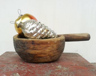 Antique Scoop Large Wooden Store Ladle for Grains Great Patina Handmade 1 Piece Wood 1880-1910, Antique natural wood, Country cottage chic