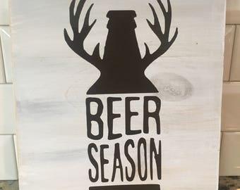 Beer Season Sign