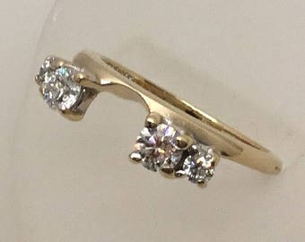 Vintage 1/2 Ct total diamond weight enhancer