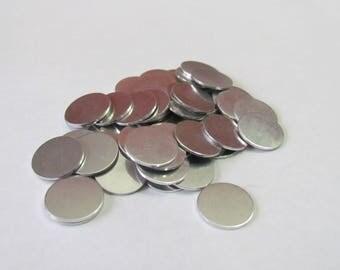 5/8 round blanks - 18 G -Tumbled Aluminum - PREMIUM blanks - punch   blanks - stamping blanks - hand stamping blanks