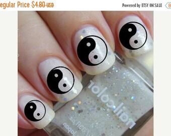 Yin yang nail art | Etsy
