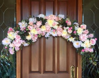 Wedding Arch, Bridal Arch, Wedding Ceremony Floral, Bridal Floral Arch, Elegant Floral Swag, Wedding Arch Decoration, Bridal Swag, Swag