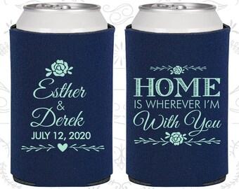 Dark Blue Wedding, Dark Blue Can Coolers, Dark Blue Wedding Favors, Dark Blue Wedding Gift, Dark Blue Wedding Ideas (391)