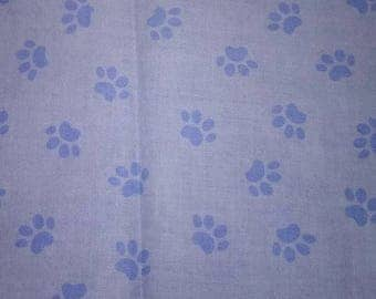 Blue's Clues Paw Print Fabric