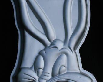 Bugs Bunny Wilton Cake Pan 1992 Warner Bros Baking Whats Up Doc Rabbit Metal Looney tunes