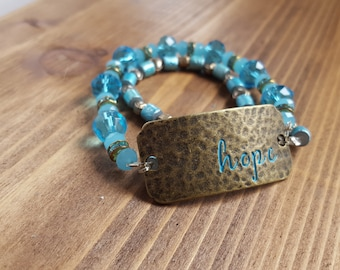 Custom made bracelet. I make my bracelets stretchy so they are convenient and easy to put on.