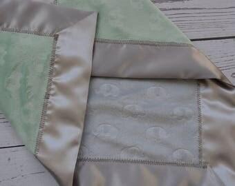 Personalized Minky Blanket... Baby Boy Minky Blanket With Satin Binding... Minky Baby Blanket