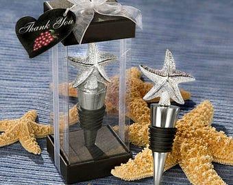 Elegant Starfish Wine Bottle Stopper - Beach Wedding Favors - Wine Theme Favors - Starfish Party Favors (1910)