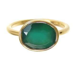 Gems Ring - Gemstone rings - Gemstone Ring - Stackable Ring - Gold Ring - Oval Ring - Gemstone Ring - Bridesmaid ring