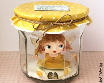 """Lemon Meringue"" fairy jam, OOAK DOLL"
