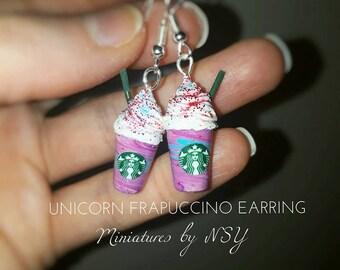 Unicorn frappucino earring