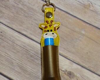 Lip Balm, Chapstick, Flash Drive, USB Drive Holder - Giraffe