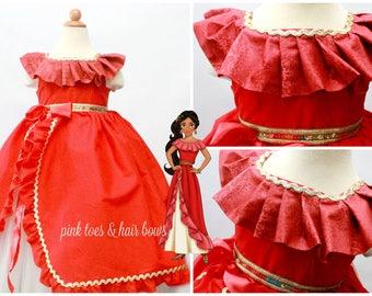 Elena of avalor Dress- elena of avalor costume- elena of avalor tutu dress-elena party-elena birthday-elena costume-elena dress