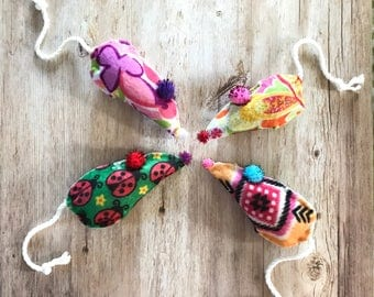 Mouse Cat Toys Pack, Fun Patterns, Catnip Mice, Kitten Play, Kitten Toys, Unique Cat Toys, Valerian Cat Toys, Toys for Cats, Catnip Toys