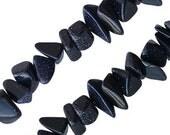 Collier Goldstone bleu de 40 cm autour du cou
