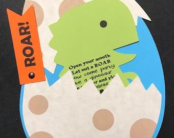 Dinosaur Egg Invitation
