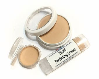 TOAST Perfecting Cream Foundation - Creamy Natural Foundation - Concealer Makeup - Gluten Free Vegan