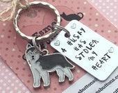 Husky keyring , husky love, husky owner gift, Hand Stamped Key Ring, Dog Owner gift, pet Owner gift, Pet Lover,