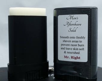 Men's Aftershave Solid - Get Smooth and Smell Sensational! Anti-aging too!